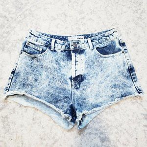 Topshop Tall Moto High Waisted Acid Wash W32